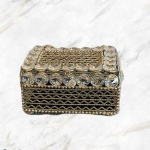 4/$30 🌺 DHS   Small Crystal Beaded Jewelry Box